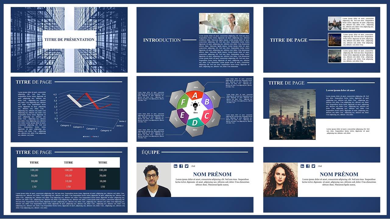 Diapositive de Présentation Différent