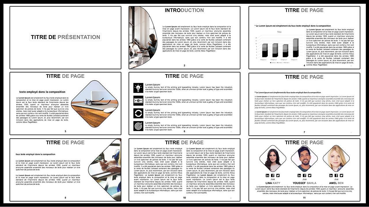 diapositive modèle de présentation Professionnel