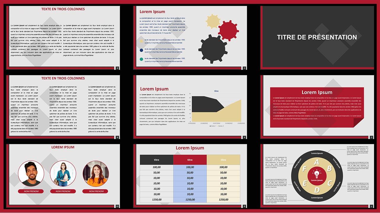 diapositive modèle de présentation Gratuit