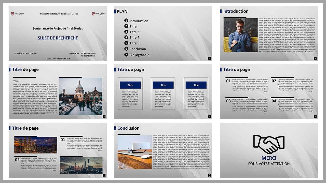 Diapositive de Présentation de PFE